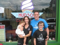 Yorktown residents John and Tracey Falcone recently opened The Hudson Creamery in Peekskill. Also shown are their children, Sofia and John John. Photo credit: Neal Rentz