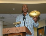 Art Monk Comes Home to Present NFL Gold Football to WPHS