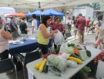 Farmers and individual shoppers at the Pleasantville Farmers Market combined to donate 621.5 pounds of fresh food last Saturday to the Hillside Food Outreach.