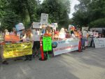 Indian Pt., Pipeline Protestors Gather Outside Governor's Home