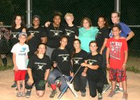 """On Thursday, Lombardo's (pictured) beat Spec Tators, 13-4, to gain a tie for fourth place in the White Plains Rec Women's Softball League with a 4-9 record. Also, their sponsor Lombardo's Restaurant located on Mamaroneck Avenue according to Team Manager Mary Delanoy """"has the best food!"""" Albert Coqueran Photos"""