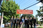 Roadway in Yorktown Dedicated to Local Army Hero