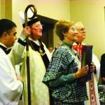 Cardinal Designate Dolan and Sister Janice McLaughlin, MKS President