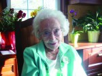Mae Collins turns 107 years old on St. Patrick's Day.