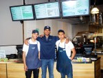 Energy Kitchen owner Steven Prashad flanked by manager John Berrios (right) and David Eugenio (left).