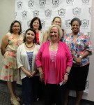 Parent-Child Home Program staff (back row) Fabiolo Sotelo, Amy Ross, Marcia Feliz, and Ingrid Bentil and (front row) Rivka Gorin and Patrice Cuddy celebrated the program's 40th anniversary.