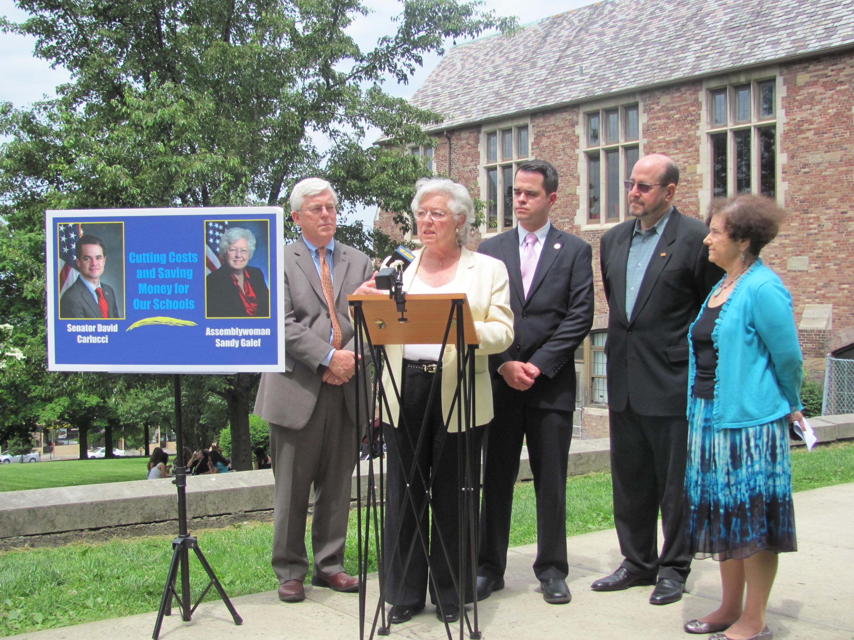 Assemblywoman Sandy Galefy spoke about the bills she and state Senator David Carlucci are introducing.