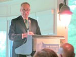 Senator Chuck Schumer addresses Westchester County business leaders at a Business Council of Westchester breakfast Monday morning.