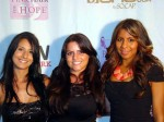 From left, Indulgence Blow Dry Lounge owner Dianna Ettari and hair stylists Cynthia Buitron and Stacy Messina.