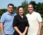 (Left to right) Bistro Twenty Five co-owner Joe Mangi, head chef Dina Leigh and Frank Magistro, also co-owner.
