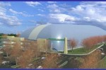 A rendering of the proposed sports bubble in Greenburgh.