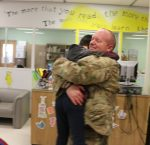 Army Soldier Surprises Son with Visit at Ben Franklin School