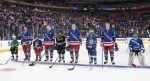 White Plains Plainsmen Luca Fugarino Stands with NY Rangers at MSG
