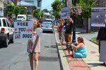 Protestors Rally Against Tether Law in Village of Ossining