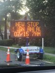 Temporary Stop Sign Debuts at Chappaqua's King-Greeley Crossing