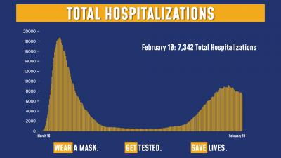 COVID Hospitalizations 2/10/21