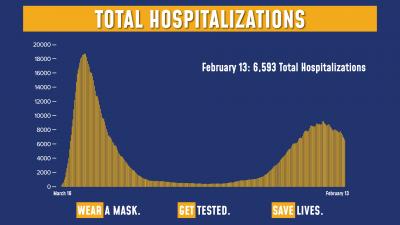 COVID Hospitalizations 2/13/21