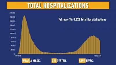 COVID Hospitalizations 2/15/21