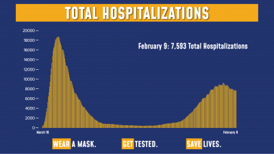 COVID Hospitalizations 2/9/21