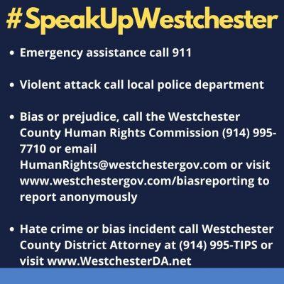 #SpeakUpWestchester