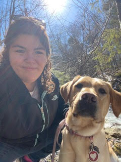Guiding Eyes for the Blind trainer Alissa Phillips in Yorktown