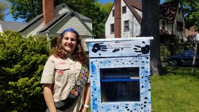 Rebecca Glider of White Plains in pursuit of Eagle Scout