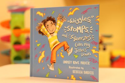 """""""Wiggles, Stomps and Squeezes Calm My Jitters Down"""" by Lindsey Rowe Parker"""
