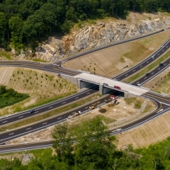 Highway with overpass
